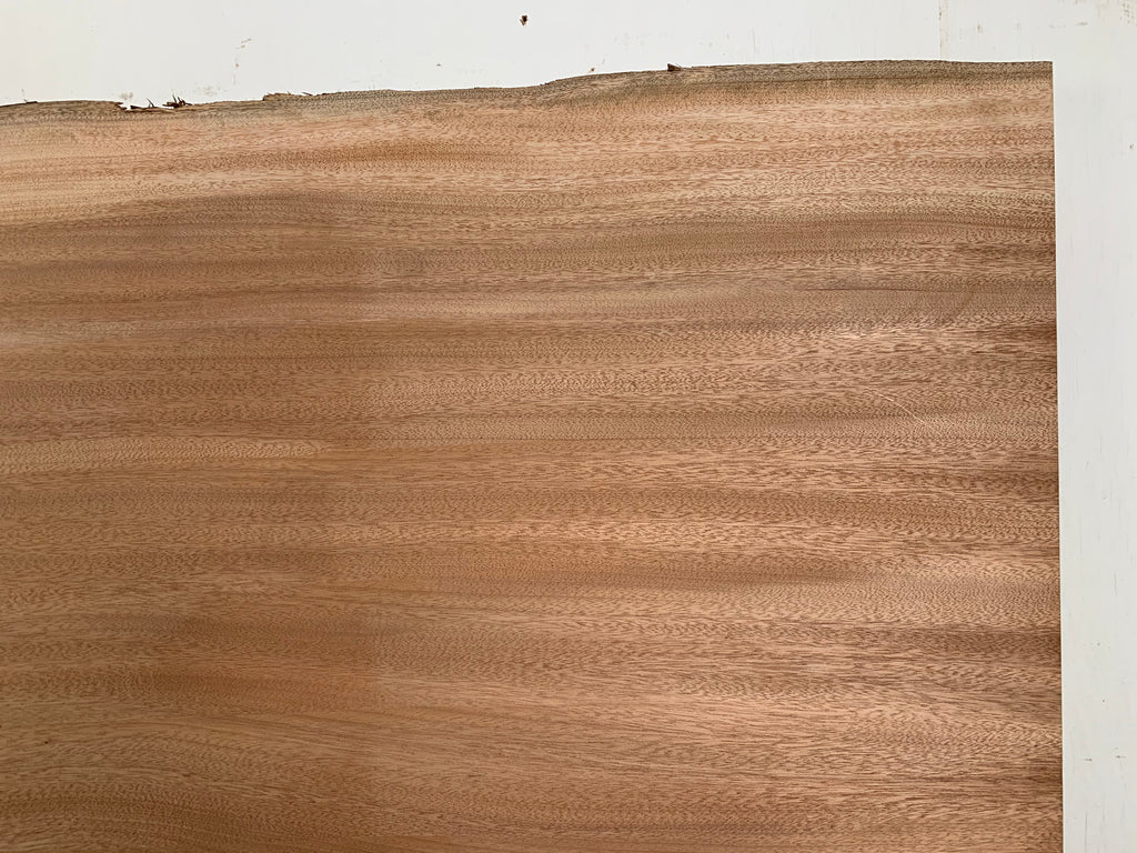 "African Mahogany (Sipo)  Live Edge Slab (2"" x 49.5 -52.5"" x 86"")"