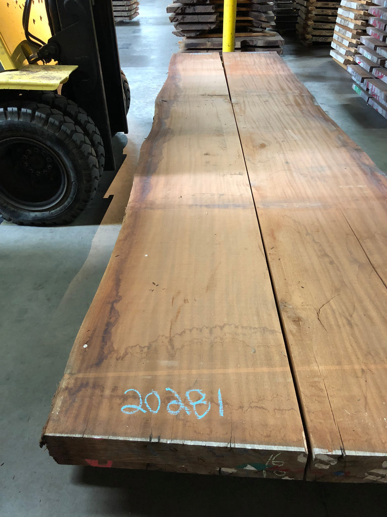 "African Mahogany (Sipo) Live Edge Slab (3.75"" x 23.5 - 27.5"" x 208.75"")"