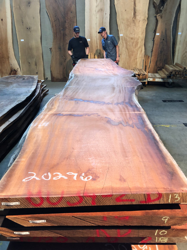 "African Mahogany (Sipo) Live Edge Slab (2.62"" x 37 - 39.5"" x 212.5"")"