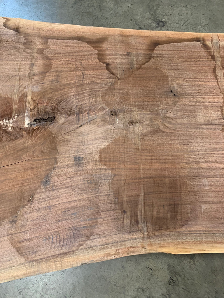 "Black Walnut Slab #20554 (98"" x 37"" - 50"" x 2.25"")"