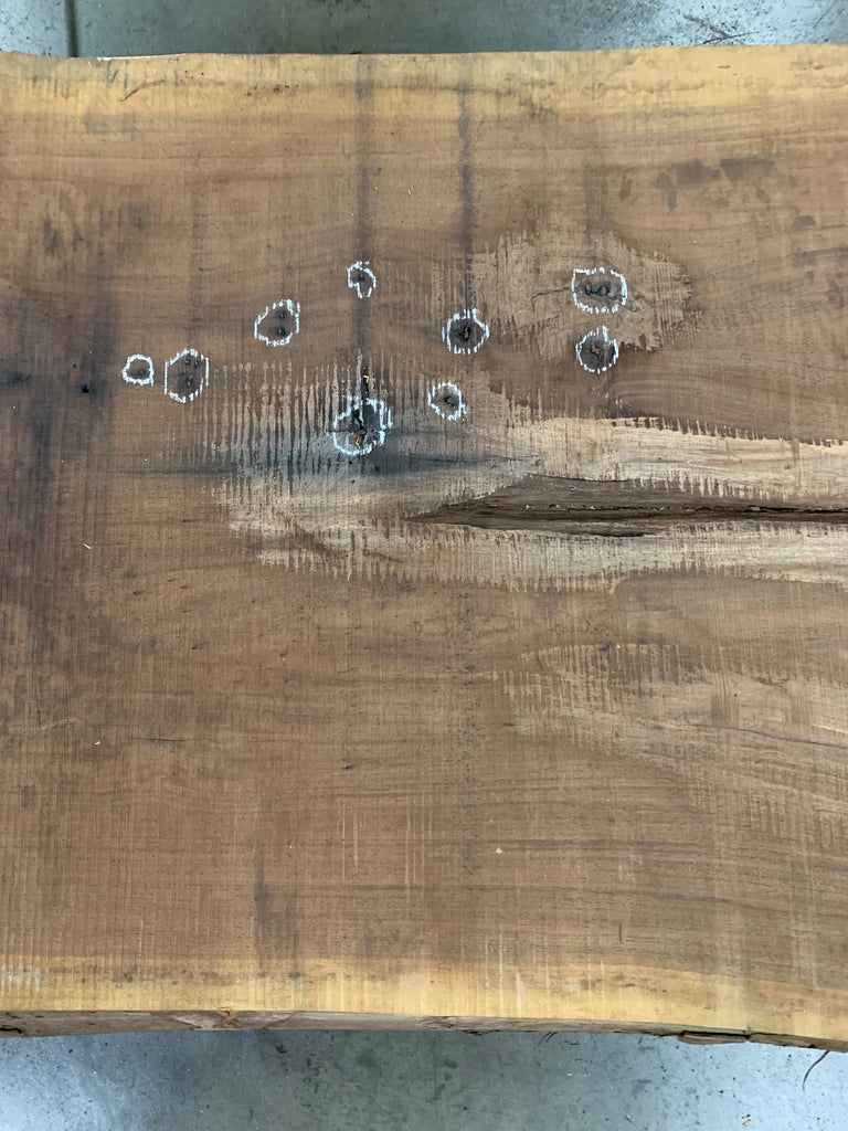 "Black Walnut Slab #20557 (99"" x 35"" - 49"" x 3"")"