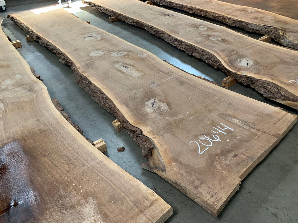 "Black Walnut Slab #20644 (187"" x 29.5"" - 41"" x 3"")"