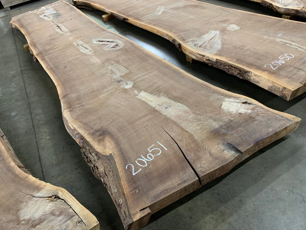 "Black Walnut Slab #20651 (178"" x 37"" - 44"" x 3"")"