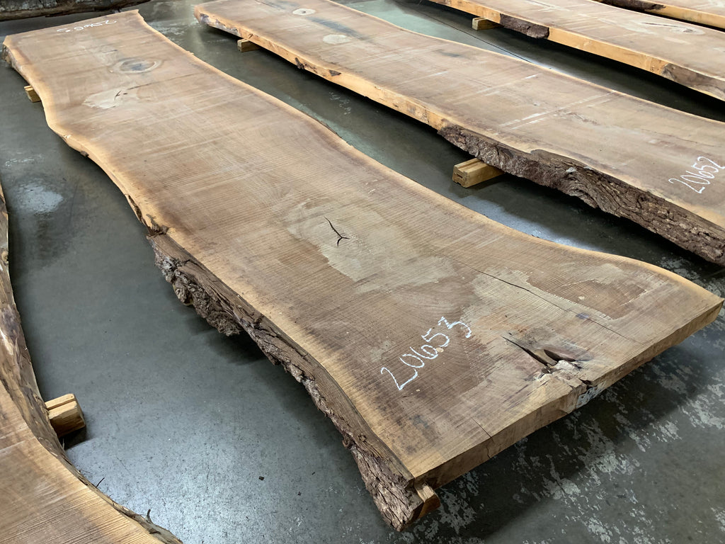 "Black Walnut Slab #20653 (176"" x 35"" - 39"" x 3"")"