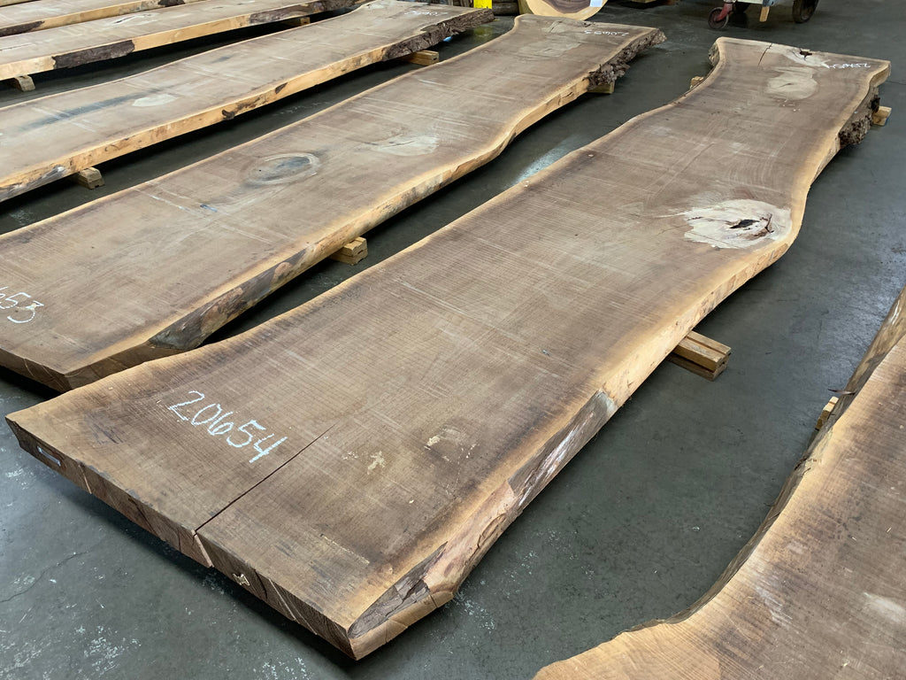 "Black Walnut Slab #20654 (176"" x 32"" - 41"" x 3"")"