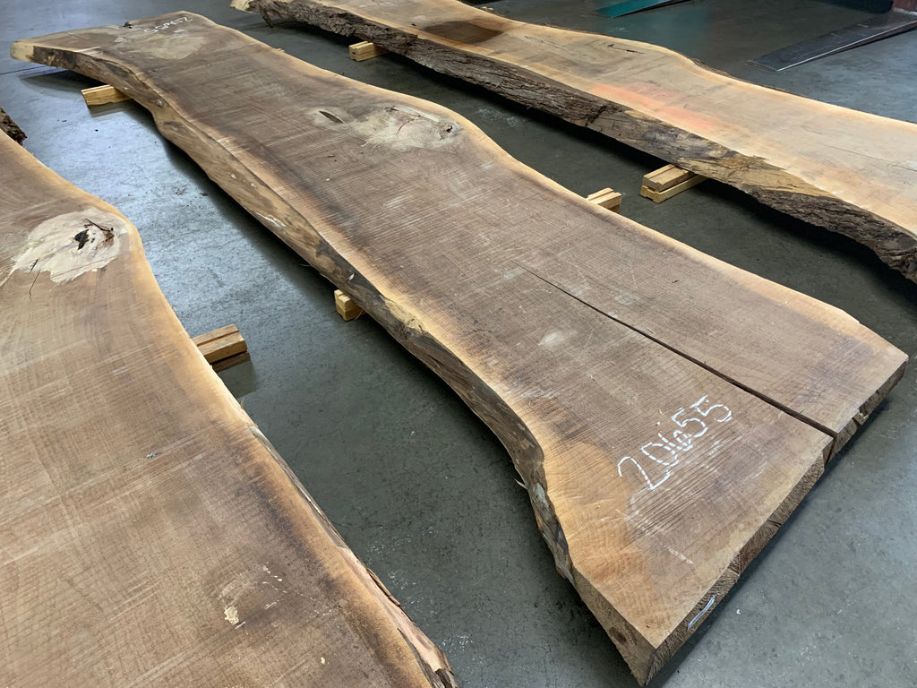 "Black Walnut Slab #20655 (176"" x 29"" - 39"" x 3"")"