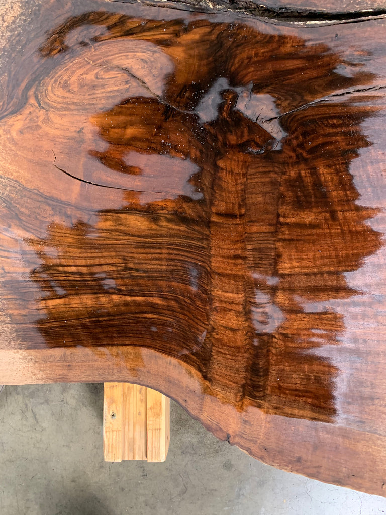 "Claro/English Walnut Graft #20676 (65"" x 36""- 49"" x 2"")"