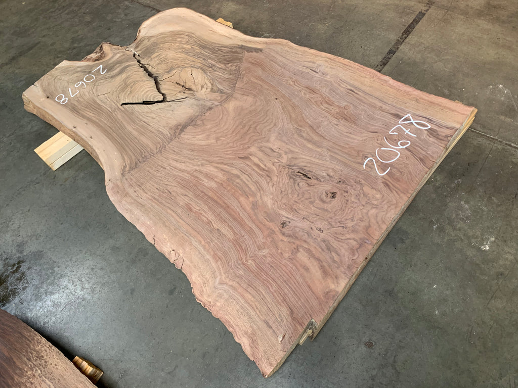 "Claro/English Walnut Graft #20678 (62"" x 34""- 44"" x 2"")"