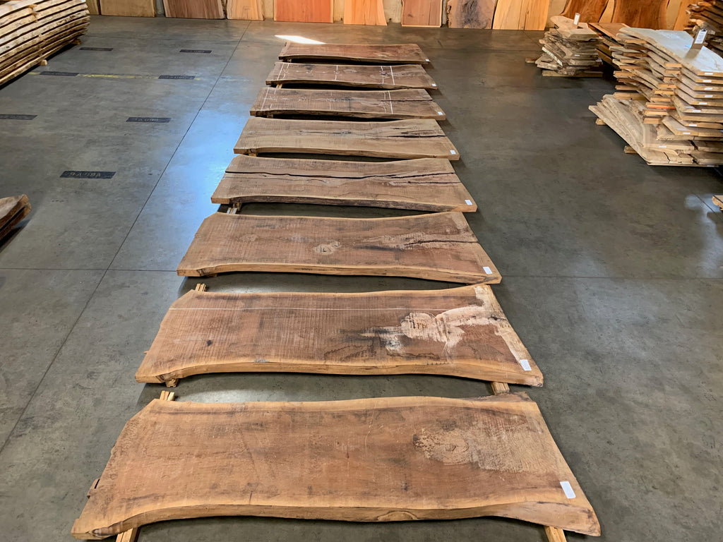 "Black Walnut Slab #10898 (99"" x 30"" - 44"" x 2.5"")"