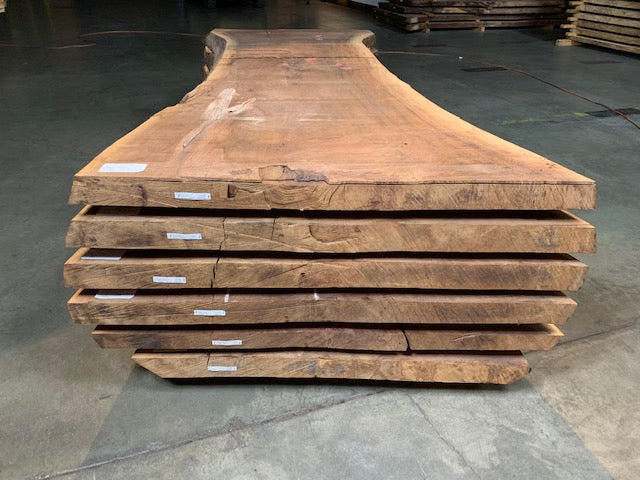 "Black Walnut Slab #20558 (99"" x 32"" - 46"" x 3"")"