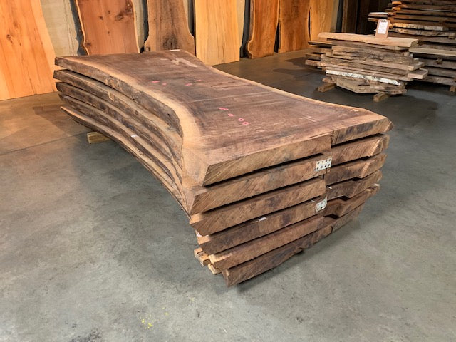 "Black Walnut Slab #20556 (99"" x 36"" - 52"" x 3"")"
