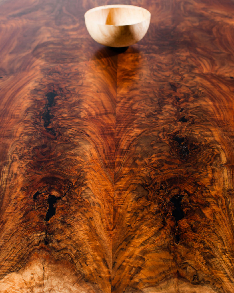 Claro Walnut 10.6' Bookmatched Conference Table