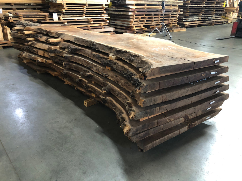 "Claro Walnut Slab #10166 (173"" x 29"" - 43"" x 2.5"")"