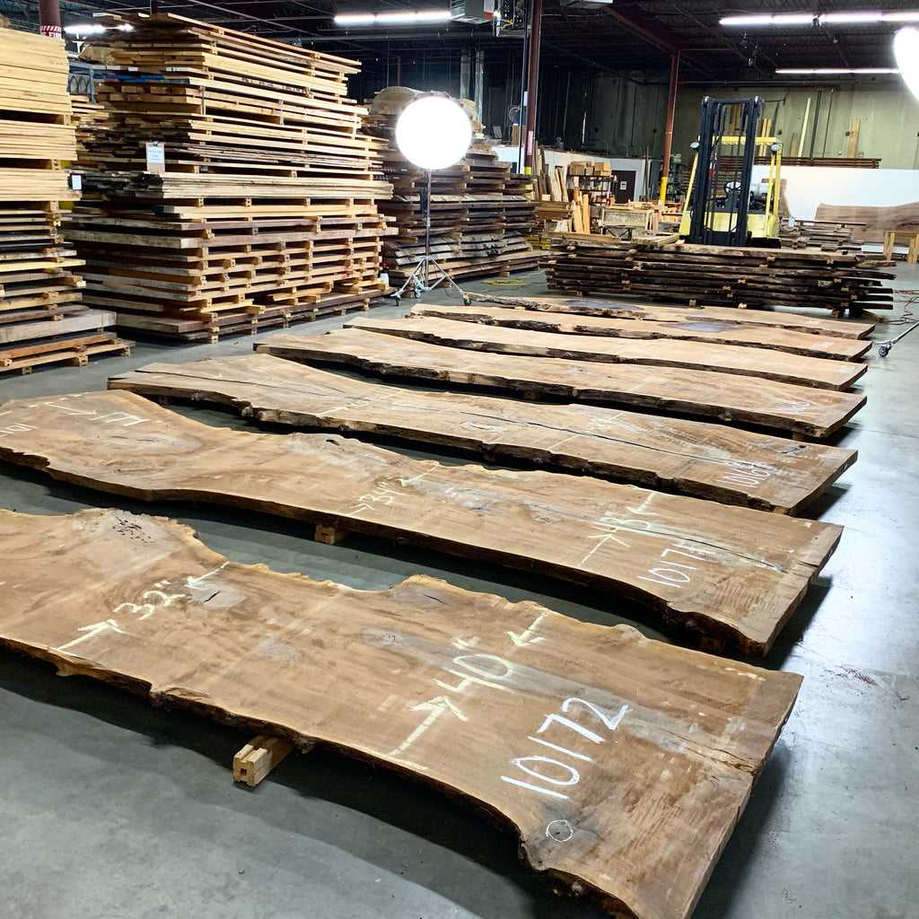 "Claro Walnut Slab #10168 (180"" x 39"" - 47"" x 2.5"")"