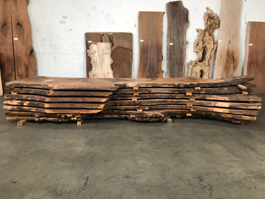 "Claro Walnut Slab #10164 (180"" x 40"" - 48"" x 2.5"")"