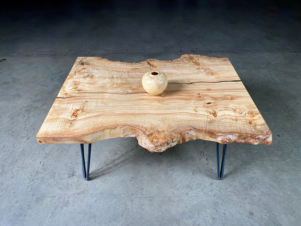 Silver Maple Burl Coffee Table