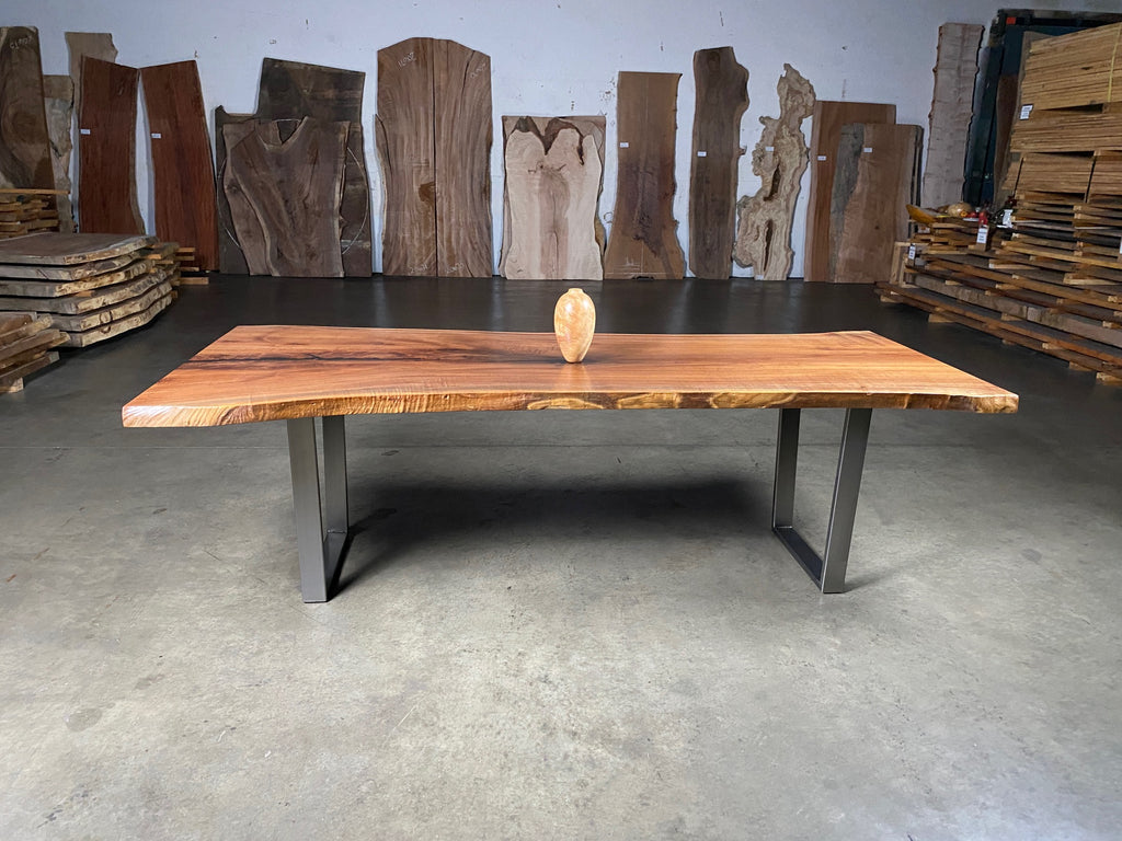 American Single Slab Black Walnut Dining Table
