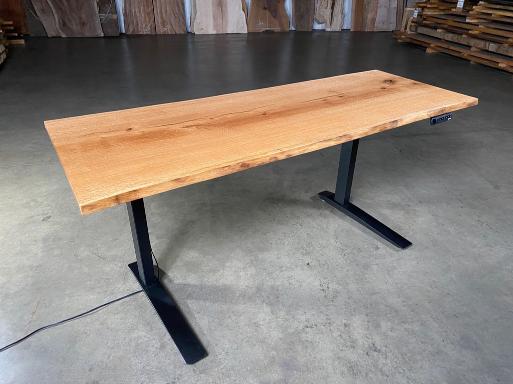 Red Oak Sit-Stand Desk