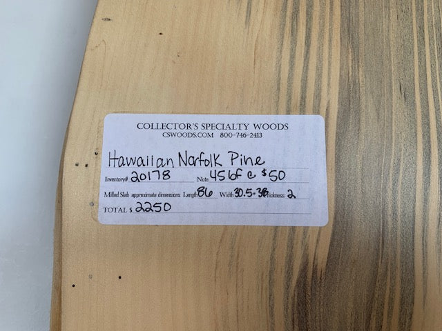 "Hawaiian Norfolk Pine (2"" x 30.5 - 38"" x 86"")"