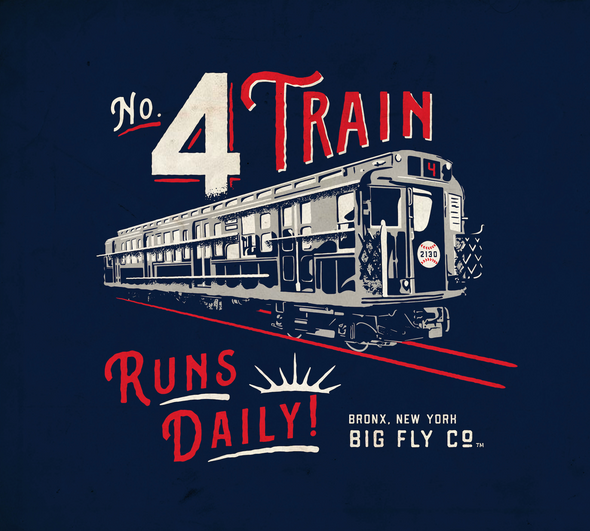 No. 4 Train Tee (Lou Gehrig)