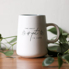 Load image into Gallery viewer, BLEMISHED || Best Is Yet To Come White Matte Script Mug