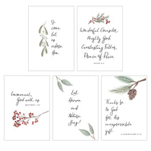 Load image into Gallery viewer, CHRISTMAS WATERCOLOR CARD PACK || Floral Watercolor Christmas Card Pack of 10