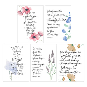 WATERCOLOR CARD PACK || Floral Watercolor Verse Greeting Card Pack of 10