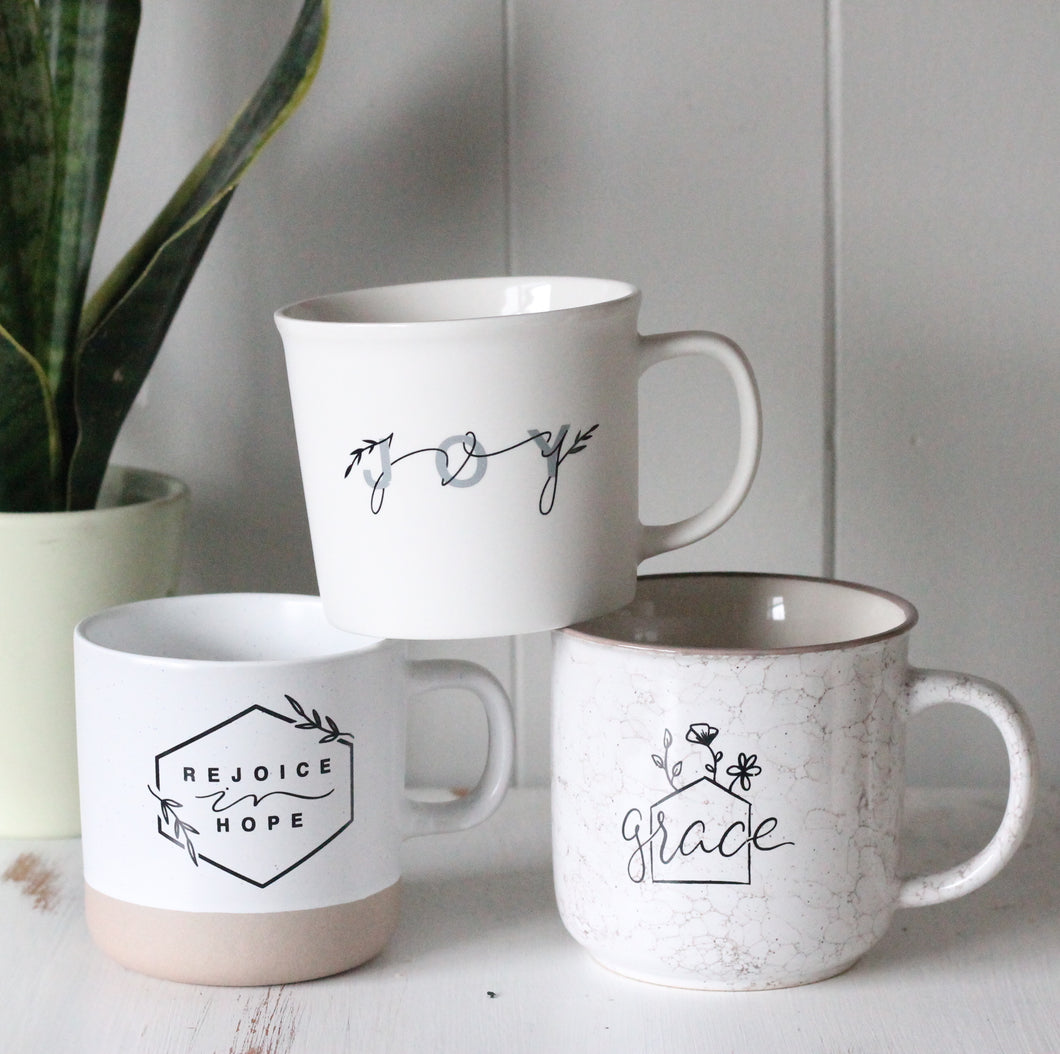 MUG BUNDLE || Grace, Joy, Rejoice in Hope