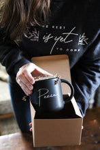 Load image into Gallery viewer, PEACE THAT PASSES UNDERSTANDING MUG || Black on Black Matte Mug