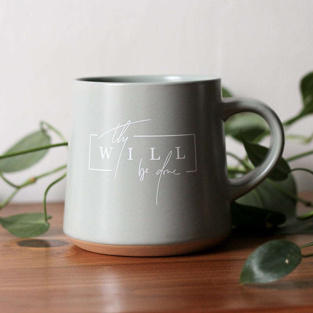 THY WILL BE DONE MUG || Sage Natural Bottom Mug