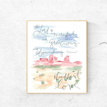 Load image into Gallery viewer, DIGITAL PRINT || Steadfast Love Psalm 103:8 Watercolor