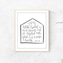 Load image into Gallery viewer, DIGITAL PRINT || Acts 2:46 Kitchen Print