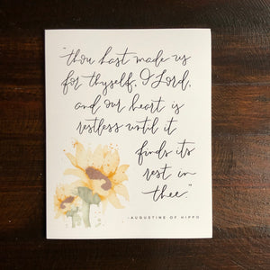 MISPRINT WATERCOLOR || Restless Heart Augustine of Hippo Quote