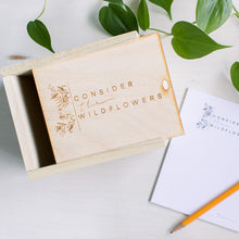 Load image into Gallery viewer, CONSIDER THE WILDFLOWERS || Worry Box Kit