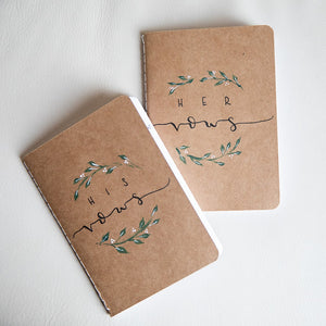 VOW BOOKS || Greenery Floral Vow Booklets