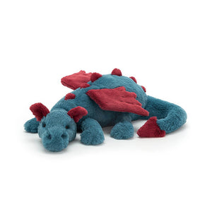 Jellycat Dexter Dragon blue and maroon soft toy
