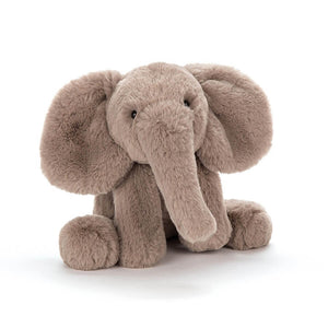 Jellycat Smudge Elephant soft toy with grey fur