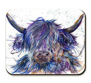 Splatter Scruffy Highland Cow Placemat