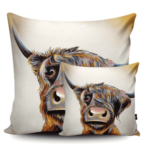 A Bad Hair Day Highland Cow Cushion