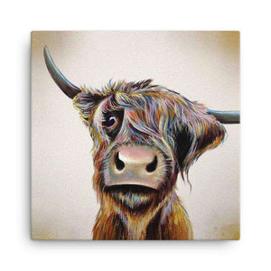 A Bad Hair Day Highland Cow Canvas Canvases Wraptious Contempo