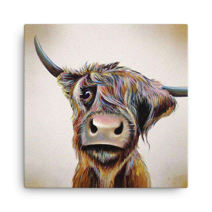 A Bad Hair Day Highland Cow Canvas