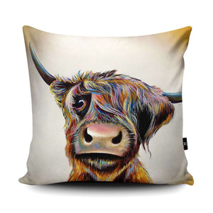 A Bad Hair Day Highland Cow Cushion Cushions Wraptious Contempo