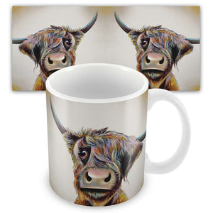 A Bad Hair Day Highland Cow Mug Mugs Wraptious Contempo