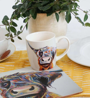A Bad Hair Day Highland Cow Placemat Placemats Wraptious Contempo