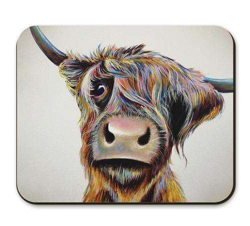 A Bad Hair Day Highland Cow Placemat (Individual)