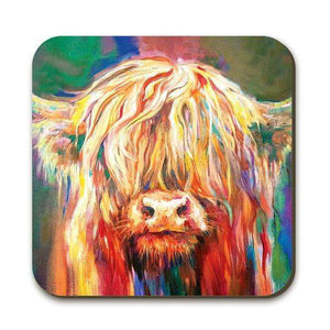 Baby Highland Cow Coaster Coasters Wraptious Contempo