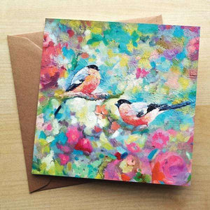 Bullfinches Blank Greetings Card Greetings Cards Wraptious Contempo