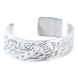 Celtic Flowers Pewter Bangle (S) - Contempo