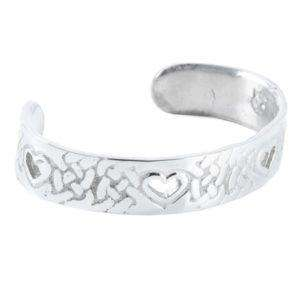 Celtic Heart Cut Out Pewter Bangle - Contempo