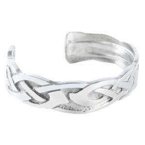 Chunky Celtic Design Pewter Bangle - Contempo